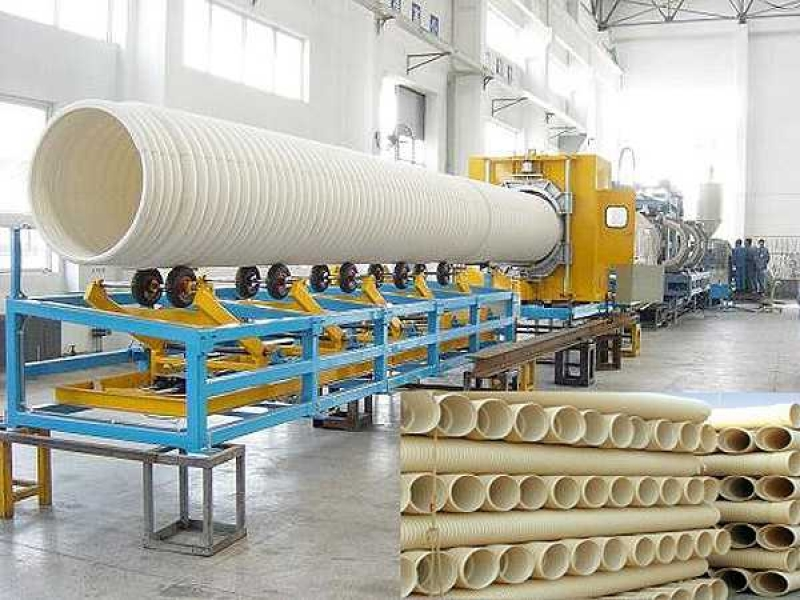 PE/UPVC Double-Wall Corrugated Pipe Extrusion Line