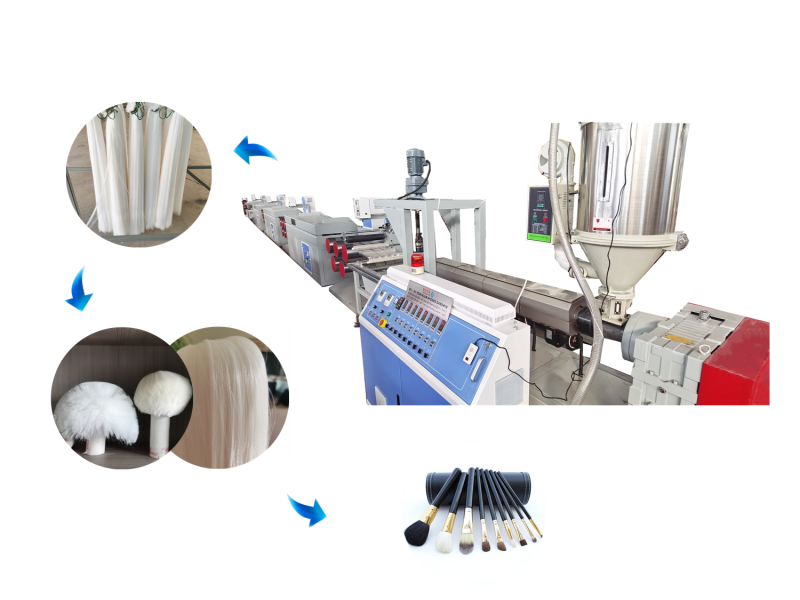 Plastic Cosmetic Brush Filament Extruding Machine